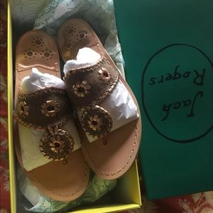 Jack Rogers sandals size 6. Style: Isla rose gold.